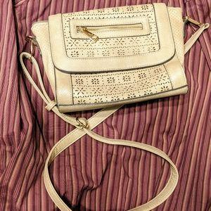 Melie Bianco crossover bag tan Excellent! Vegan